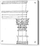 Corinthian Order Acrylic Print
