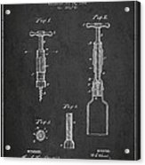 Corkscrew Patent Drawing From 1884 Acrylic Print