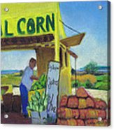 Corn And Oysters Farmstand Acrylic Print by Susan Herbst