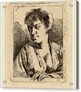 Cornelis Bega Dutch, 1631-1632-1664, Bust Of A Young Woman Acrylic Print