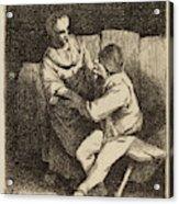 Cornelis Bega Dutch, 1631-1632 - 1664, The Refused Caress Acrylic Print