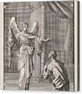 Cornelius Kneels Before The Angel Sent Acrylic Print