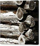 Corner Logs Acrylic Print