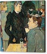 Corner Of Moulin De La Galette Acrylic Print by Henri de Toulouse Lautrec