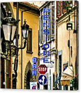 Corner Of Pensione And Bar Acrylic Print