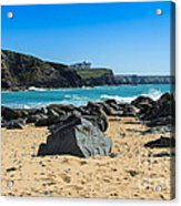 Cornish Seascape Gunwalloe Acrylic Print