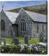 Cornish Seascape St Winwaloe Church Acrylic Print
