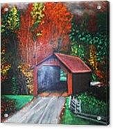 Cornwall Covered Bridge Acrylic Print