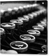 Corona Zephyr Keyboard Acrylic Print