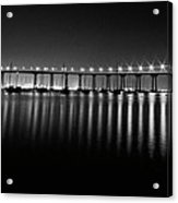 Coronado Bay Bridge Acrylic Print by Ryan Weddle