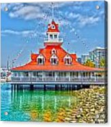 Coronado Boat House Acrylic Print