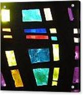 Coronado Hospital Chapel Stained Glass Acrylic Print