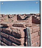 Coronado Monument Adobe Walls Acrylic Print