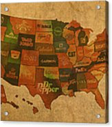 Corporate America Map Acrylic Print