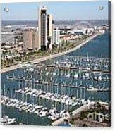 Corpus Christi Marina Aerial Acrylic Print