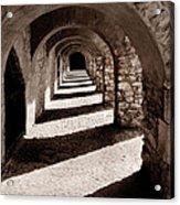 Corridors Of Stone Acrylic Print