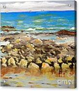 Corrimal Beach Near Towradgi Rook Pool Acrylic Print