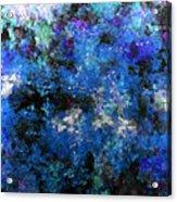 Corrosion Bleue Acrylic Print