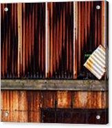 Corrugated Steel Mill Wall Alton Il Acrylic Print