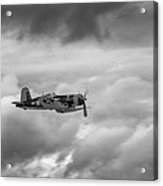 Corsair In The Clouds   7d015 Acrylic Print