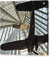 Corsairs In The National Marine Corps Museum In Triangle Virginia Acrylic Print