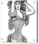 Corset Advertisement  1897 Acrylic Print