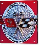 Corvette 25th Anniversary Emblem 1 Acrylic Print