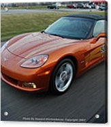 Corvette At Speed . . . . .  Acrylic Print