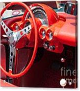 Corvette Dashboard Acrylic Print