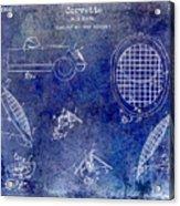 Corvette Headlight Patent Acrylic Print