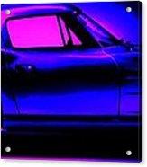 Corvette In Blue Acrylic Print