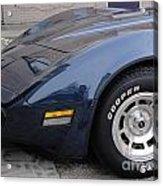 Corvette Acrylic Print by Jackie Bodnar