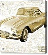 Corvette Sport Car Catus 1 No 2 Acrylic Print