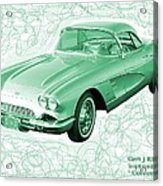 Corvette Sports Car Catus 1 No 3 Acrylic Print
