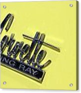 Corvette Stingray Acrylic Print