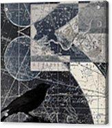 Corvus Star Chart Acrylic Print by Carol Leigh