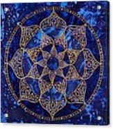 Cosmic Blue Lotus Acrylic Print