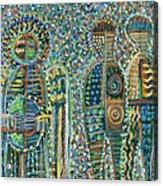 Cosmic Creation Of Adam And Eve Acrylic Print