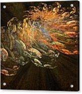 Cosmic Dust And Light Beauty Fine Fractal Art Acrylic Print