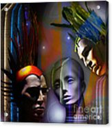 Cosmic Mannequins Triad Acrylic Print