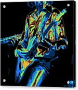 Cosmic Mick Of Bad Company In 1977 Acrylic Print