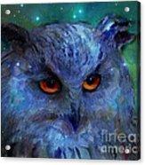 Cosmic Owl Painting Acrylic Print