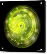 Cosmic Swirl - Use Red-cyan Filtered 3d Glasses Acrylic Print