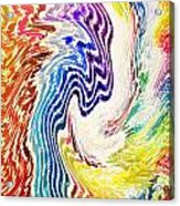 Cosmic Waves Vertical Acrylic Print