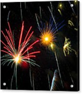 Cosmos Fireworks Acrylic Print by Inge Johnsson