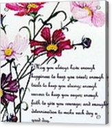 Cosmos Poem Acrylic Print