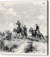 Cossacks Skirmishing Acrylic Print