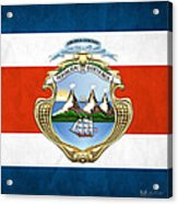 Costa Rica Coat Of Arms And Flag  Acrylic Print