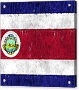 Costa Rica Flag Acrylic Print
