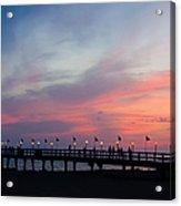 Costa Rican Sunset Acrylic Print by Adam Romanowicz